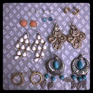9 lot earrings